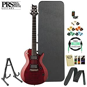 PRS SE Nick Catanese (NCSR) Electric Guitar Kit in Scarlet Red with Tuner, Cable, Strap, Strings, Stand, Picks and Hard Case