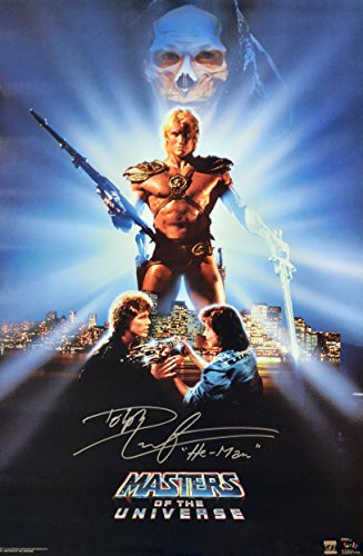 "Dolph Lundgren ""He-Man"" Signed Masters Of The Universe 22x36 Movie Poster"