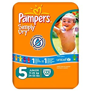 Pampers Simply Dry Size 5 Nappies 22 pack