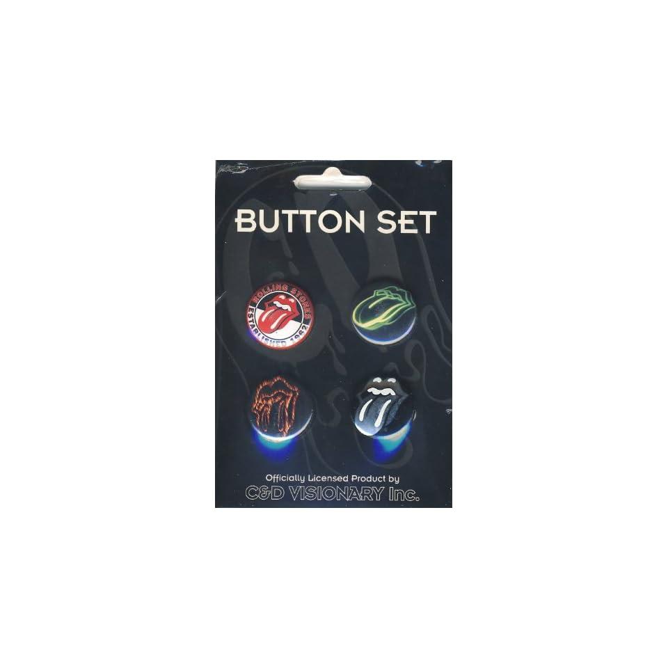 Rolling Stones   Lips logo 1 Pinback Button Set (set of 4)