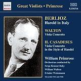 ベルリオーズ:交響曲「イタリアのハロルド」/ウォルトン:ヴィオラ協奏曲 (プリムローズ)