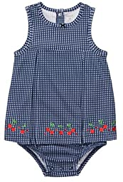 Carter\'s Infant Gingham Sunsuit - Navy-12 Months