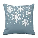 【TESCO】雪片および青い星の枕 クッションカバーモダン ソファ 大きい 四季 椅子 抱き枕 インテリア