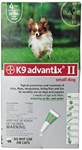 Bayer Advantix II, Small Dogs, Up to 10-Pound, 4-Month
