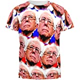 Election Bernie Sanders Face the Future 2016 All Over Adult T-Shirt - Medium