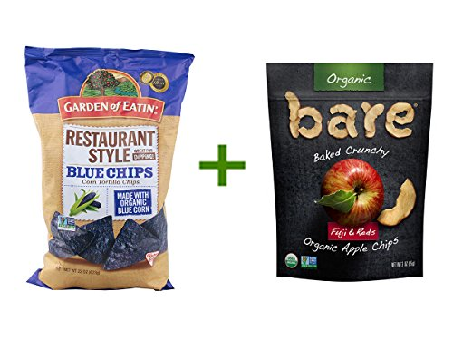 Garden of Eatin' Blue Chips Corn Tortilla Chips Restaurant Style -- 22 oz, ( 3 PACK ), Bare Organic Baked Crunchy Apple Chips Gluten Free Fuji & Reds -- 3 oz (Baked Organic Corn Tortilla Chips compare prices)
