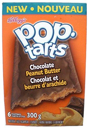 Kellogg's Pop Tarts Chocolate Peanut Butter 300g (6 Pastries)