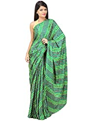 ANISHA SAREES Women's Silk Saree (ANI-42-GREEN, Green)
