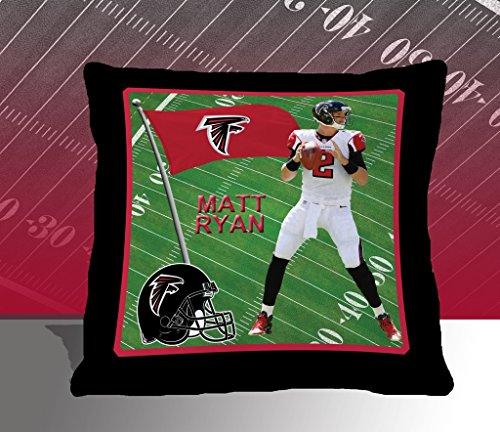 Nfl Biggshots Bedding - Atlanta Falcons Matt Ryan Toss Pillow, 18-Inch front-415378