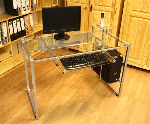 Tavolo in vetro per computer