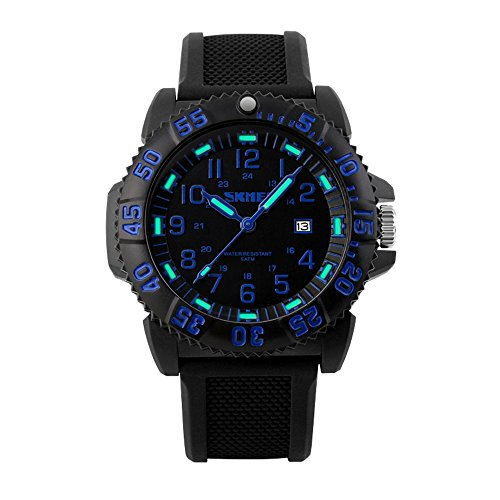 Skmei 1078 Outdoor-Frauen-Mann-Sport-Uhren Armee Armbanduhr 50m Wasserdicht