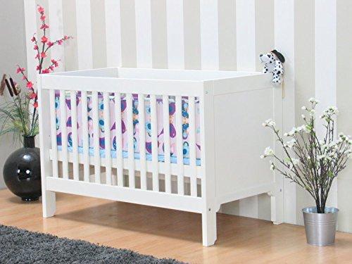 Kinderbett Roomate inkl. Lattenrost 60x120cm Gitterbett Babybett Juniorbett weiß