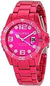 Haurex Italy Womens 7K374DP2 Ink Hot Pink Aluminum Watch