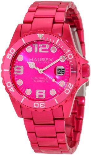 Haurex Italy Women's 7K374DP2 Ink Hot Pink Aluminum Watch
