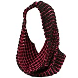 Winter Soft Chunky Pullover Knit Circle Loop Infinity Cowl Ski Scarf Fuchsia Bk