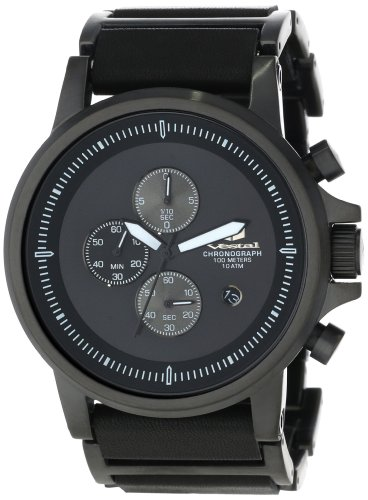 Vestal Men's PLE038 Plexi Black Lume Watch