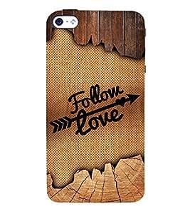Follow love Design 3D Hard Polycarbonate Designer Back Case Cover for Apple iPhone 4