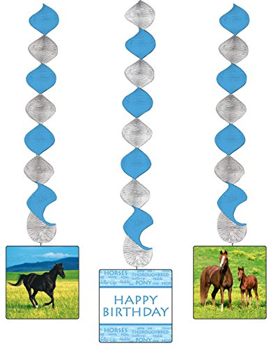 Creative Converting Wild Horses 3 Count Dangling Cutouts Hanging Party Decoration