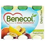 Benecol Cholesterol Lowering Yogurt Drink Dairy Free Tropical 6 x 65.5g