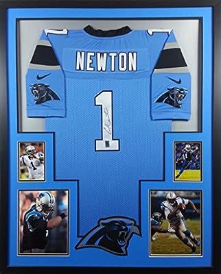 Cam Newton Framed Jersey Signed GTSM COA Autographed Carolina Panthers Auburn