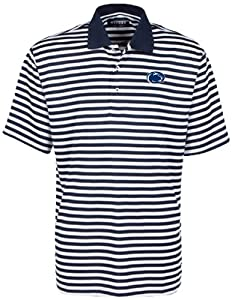 Oxford NCAA Penn State Nittany Lions Mens Bar Stripe Golf Polo by Oxford