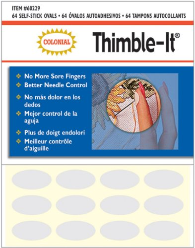 Best Review Of Colorbok Thimble-It Finger Pads, 64 Per Package