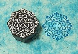 Blockwallah Traditional Mandala Wooden Block Stamp