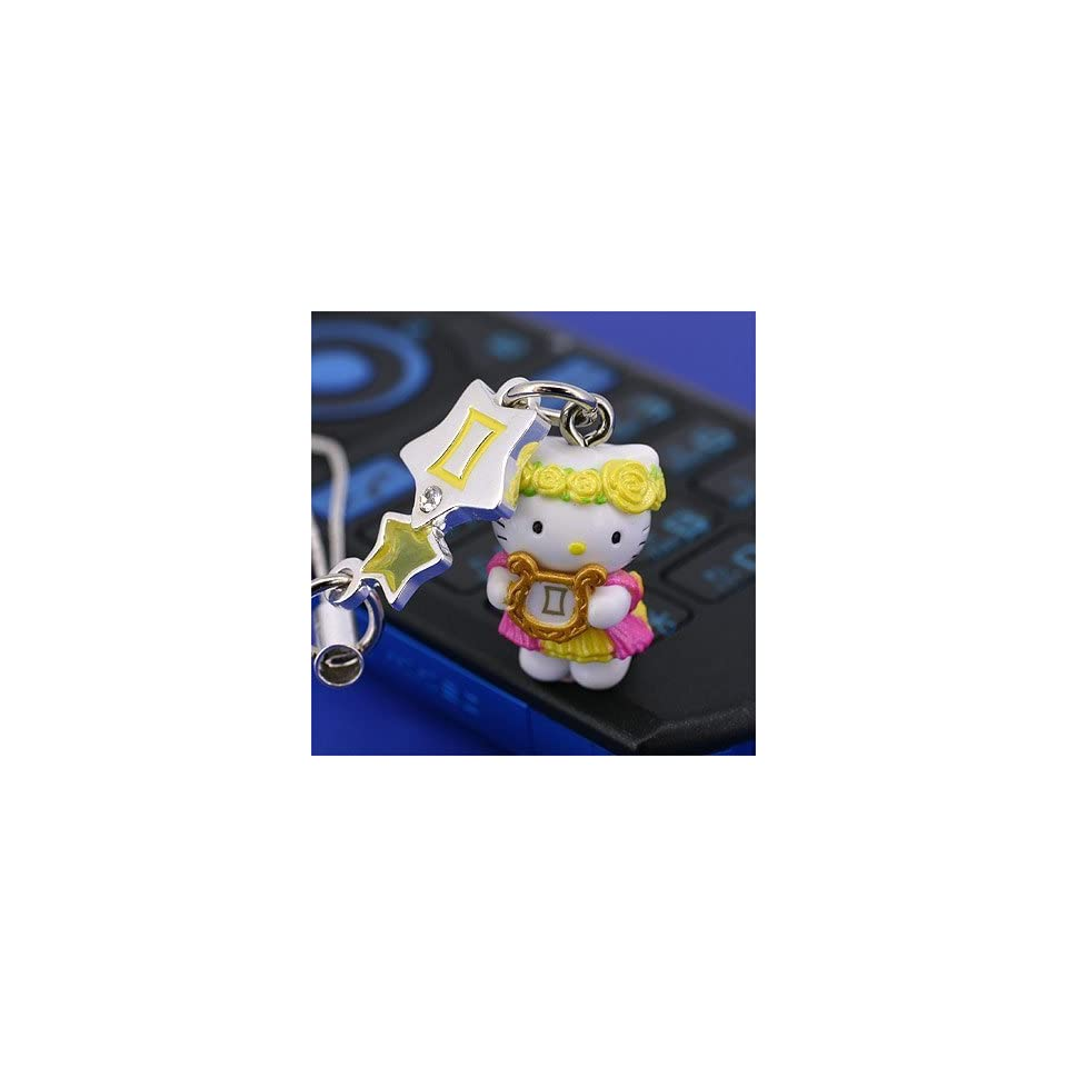 Sanrio Hello Kitty Astrologic Venus Star Charm Cell Phone Strap (Gemini) (161 7756379futago)   Japanese Import Free Domestic Shipping for This Item