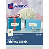 Avery Pearlized Address Labels, 1 x 2.625 Inches, Pack of 240 Labels  (8215)