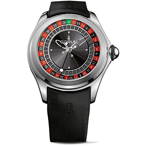 Corum Limeted Edition 288 Bubble Roulette Homme 47mm Noir Automatique Montre 082.310.20/0371 CA01