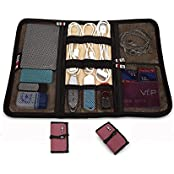BUBM Portable Rolling Electronics Accessories Organizer Travel Storage Bag S Red Red S
