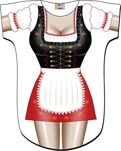 L.A. Imprints Beer Garden Girl Bikini Body Cover-Up T-Shirt #24 Regular Size White