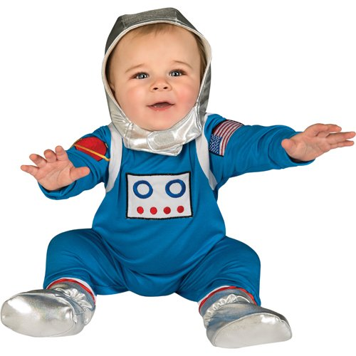 Baby's First Halloween Astronaut One-PieceJumper Headpiece and Booties
