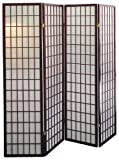 Ore International R566-4 4-Panel Room Divider - Cherry