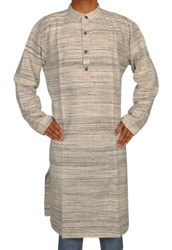 Hand Made Casual Wear Indian Khadi Long Mens Kurta Fabric For Winter & Summer Size-5XL