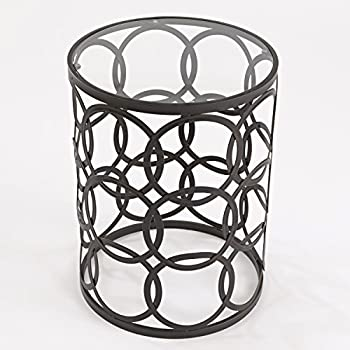 InnerSpace Luxury Products Barrel Table with Circles
