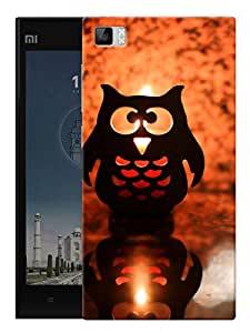 """Midnight Owl Printed Designer Mobile Back Cover For """"Xiaomi Redmi MI3"""" By Humor Gang (3D, Matte Finish, Premium Quality, Protective Snap On Slim Hard Phone Case, Multi Color)"""