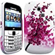 impexo Samsung Chat 335 / S3350 / S3353 Case Cover Skin Pouch Shell Peach Floral Pattern Soft Unbreakable TPU Protection Gel
