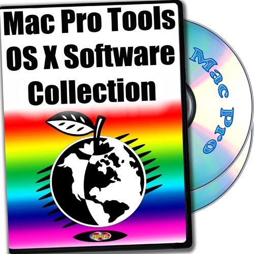 Mac Pro Tools OS X software collection 2-disks DVD set