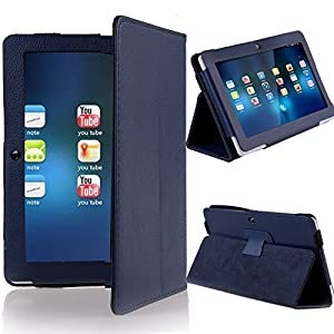 Onebook Folio Stand Faux Leather Case Cover Flip Protection Guard Case Cover with Only for Q88 7 Inch Android Tablet (Dark Blue)