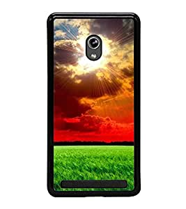 Fuson Premium 2D Back Case Cover Sunshine With yellow Background Degined For Asus Zenfone 5::Asus Zenfone 5 A500CG