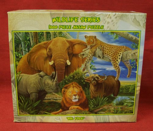 1000-piece Jigsaw Puzzle - Wildlife Series: BIG FIVE (safari animals).... - 1