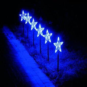 led star snowflake pathfinder christmas lights 6 pack