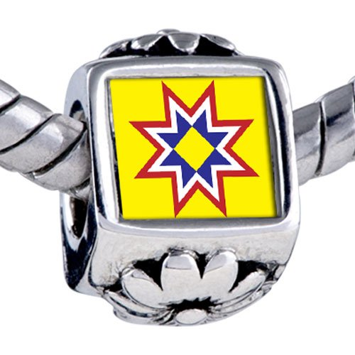 Pugster Bead Multicolored Star Beads Fits Pandora Bracelet