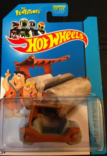 2014 Hot Wheels Hw City 83/250 - Flintmobile (The Flintstones)