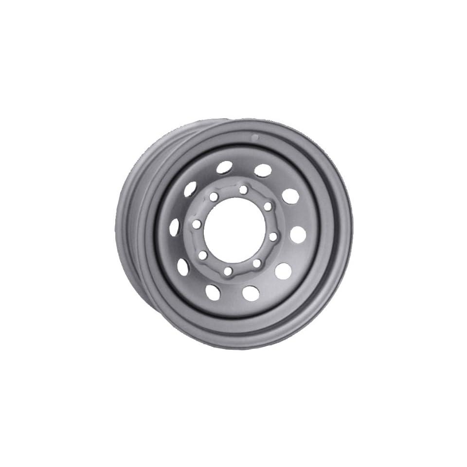 15x6 Vision Steel Mod Trailer Silver Wheel Rim 5x114.3 (5x4.5) 0mm Offset 83.82mm Hub Bore