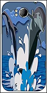 Snoogg Dolphin 2473 Designer Protective Back Case Cover For HTC Sensation Xl
