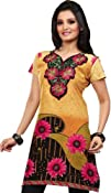 Indian Tunic Top Womens Kurti Cotton Embroidered Blouse