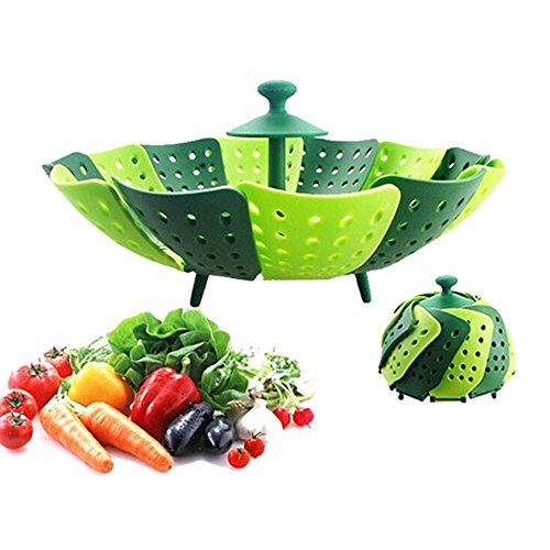 Lotus Folding Non-scratch Steamer Basket - Kitchen Cooking Tool Cookware for Fruit,Vegetable Steamer Basket (Nonstick Steamer Basket compare prices)