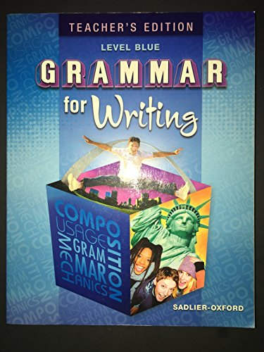 grammar for writing level blue Our core grammar blog free downloadable grammar and writing mini lessons, practice exercises, and quick tips for grades 3–12 based on author beverly ann chin's.